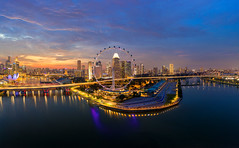 November Dusk (Shutter wide shut) Tags: aerialphotography dji djimavic2pro drone droneshot longexposure novemberdusk singapore singaporeflyer twilight dusk