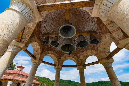 Glockenturm in einem Meteora-Kloster, Thessalien
