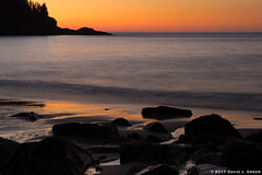 Dawn Near Bar Harbor (David J. Greer) Tags: bcpa photo workshop adventure travel bar harbor harbour maine margo pinkerton arnie zann dawn beach rocks ocean sunrise landscape orange seaside shoreline