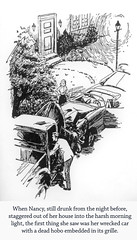 "Thug Nancy Drew in ""The Dead Hobo Caper"" (Curtis Gaston) Tags: literature classic captions illustrations keene carolyn boys hardy drew nancy thug funny am reading library publishing art conceptual childhood"