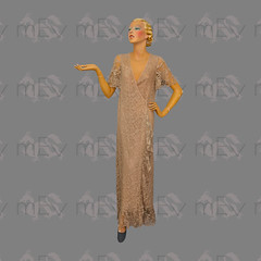 1930s Beige Lace Wrapover Robe (Rickenbackerglory.) Tags: vintage 1930s siegel mannequin beige lace wrapover robe nightwear loungewear