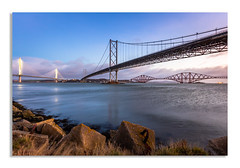 Port Edgar Rocks and Bridges (Paul S Ewing) Tags: port edinburgh edgar scotland southqueensferry forth firth forthrailbridge forthroadbridge uk landscape canon
