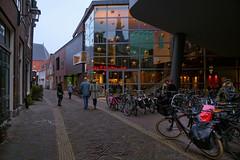 Haarlem. Evening (Julysha) Tags: haarlem city cinema acr evening street bikes people reflection architecture thenetherlands noordholland d850 sigma241054art 2018