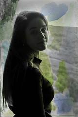 Nº13 (nuriagalv) Tags: watercolor portrait color people black bnw bw blanco bn blancoynegro boy blackandwhite bnwphotography bnwportrait girl
