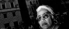 Curiosity killed the cat! (Baz 120) Tags: candid candidstreet candidportrait city street streetphotography streetphoto streetcandid streetportrait strangers rome roma europe women monochrome monotone mono noiretblanc bw blackandwhite urban life portrait people italy italia grittystreetphotography flashstreetphotography faces decisivemoment
