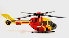 Eurocopter H135 - Lifesaver 30 (1) (Lonnie.96) Tags: lego brick red yellow blue white black grey gray wheel blade truck helicopter 2018 december light h135 eurocopter lifesaver 30 lifesaver30 type 3 medium pumper highton queenscliff moc creation custom cfa country fire authority lsv life saving victoria westpac rescue new replacement old transfer winch brickvention 2019 ladder rotor window door front back side australia stripe checker orange gren tail closed exhaust