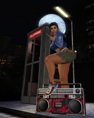 Ring Ring Ring Ring (Serena Reins) Tags: confession photography pose poses original cardi b ring anxiety phone booth milk motion night street lamp city surround jealousy kankenai hoodie bamse retro soundmaster maitreya lara catwa catya bleich farewell indie 2