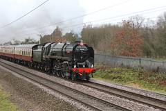 BR Std 7MT No. 70000 'Britannia' with Saphos Railtours 'The Pennine Moors Christmas Explorer' passing Standish on the WCML 8th December 2018 © (steamdriver12) Tags: br british railways std standard 7mt no 70000 britannia saphos railtours the pennine moors christmas explorer standish wcml 8th december 2018 smoke steam coal oil heritage preservation autumn damp lancashire england