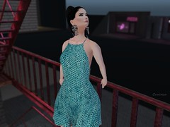 Entrance no.367 (Curiosse) Tags: short dress teal 2019 sequin luxeparis february