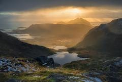 Moody (RuneKC) Tags: lofoten justadtinden norway mountain ocean sea rocks sunset sunrise hdr clouds
