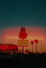 Casa Grande, Arizona (dirtyfromtherain) Tags: film portra kodak kodakportra arizona streetphotography lightleak sunset 35mm unitedstates