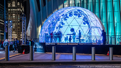 Geodesic Nissan (20181215-DSC03246-Edit) (Michael.Lee.Pics.NYC) Tags: newyork wtc worldtradecenter oculus nissan altima geodesicdome night architecture cityscape car popup sony a7rm2 fe24105mmf4g