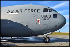 "93-0600 USAF Tennessee Air National Guard ""Memphis Belle XI"" (Nose Detail) (Bob Garrard) Tags: mcdonnell douglas c17a globemaster iii c17 930600 usaf tennessee air national guard memphis 060030900 anc panc belle xi"