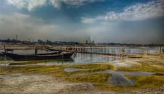 Gorai River,  Kushtia (bulbul057) Tags: sky bluesky river blue bote boatman boat water people