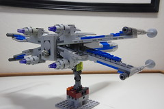 (Improved) Standard Resistance X-wing: Combat Mode Back-Right View (Evrant) Tags: lego star wars custom x wing moc starfighter spaceship starship ship t70 t 70 resistance evrant