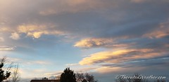 January 16, 2019 - Pretty clouds at sunset. (ThorntonWeather.com)