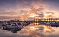 Marina Hints (Captain Nikon) Tags: kasefilters kase nikond7100 nikonphotography sawleymarina marina leicestershire reflections sunrise panoramic stitched