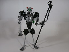 """""""The Traveller"""" (Dan The Imposter) Tags: lego alien traveller staff space extraterrestrial et skinnylegs bigredeyes axebladeshoulderpads youonlyliveonceunlessyoudont"""