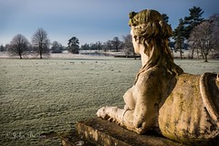 Frosty View (bart7jw) Tags: croomewinter hdr statue frost croome sky nt