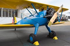 G-BSWC (Andras Regos) Tags: aviation aircraft plane fly airport fab eglf farnborough fia fia2018 airshow static display boeing e75 stearman