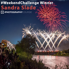 #WeekendChallenge Winner - Sandra Slade (iPhotographyCourse) Tags: fireworks light trick banger explosion landscape red yellow white green water reflection people crowds november 5th bonfire night uk celebration river photographytutorial photographer photography photomanipulation weeklychallenge weekend website potd distancelearning elearning lightning learn landscapes learnphotography photoshop camera newphotographer newbie