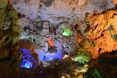 Thien Cung Grotto Cave (Seventh Heaven Photography *) Tags: ha long vietnam nikon d3200 thien cung grotto cave light rock blue green orange