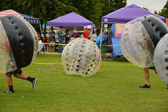 Upside down (radargeek) Tags: mustang oklahoma mustangwesterndays kid child children kids inflatables ball inflatable bumper bubble soccer human 2018 september
