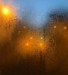 condensation (mistdog) Tags: sodium lamps lights condensation window pane
