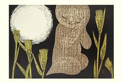 Barley (Japanese Flower and Bird Art) Tags: flower barley hordeum vulgare fabaceae kaoru kawano modern woodblock print japan japanese art readercollection