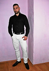 Spartacus (196) (@the.damned.spartacus) Tags: male muscle hunk big chest hairy gym bulge suited daddy man suits suite loafers shoes shirt fetish beard bear style