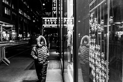Reflections | NYC (sayan51) Tags: man blackandwhite nyc newyork frozenmoment reflections sony a7iii