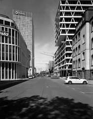 Berlin, Germany. (wojszyca) Tags: intrepid camera 4x5 largeformat fujinon sw 90mm gergger pancro 400 hc110 b 9min epson v800 city urban architecture street berlin