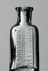 1/2 ounce AUGUSTUS LANG, ATCHISON, KS (Ks Ed) Tags: antique antiquebottle glass vintage excavated dug old drugstore drug medicine ks kansas bottle find prescription pharmacy apothecary bottles lang atchison