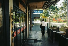 (homesickATLien) Tags: 35mm film art kodak expired mjuiii olympus analog melbourne victoria australia suburbia inner infrastrcuture architecture building grandeur growth street light urban