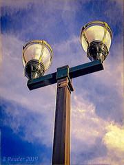 Looking Up: Street Lamp (Greatest Paka Photography) Tags: sanmateo streetlamp light sky lookingup lamp nightlight clouds post illumination