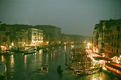 Venice evening, view from Ponte di Rialto (Yaroslav Gerzhedovich) Tags: venice venezia pontedirialto canalgrande famous historic film evening twilight dreamlike moody