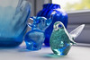 37-52: glasswares (matt_in_a_field) Tags: fuji fujinon fujifilm glass trinkets object trinket bird craft glassware blue