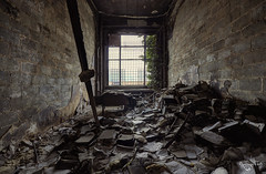 Don't burn books, just don't read them! (Left in the Lurch) Tags: urbex abandoned school university