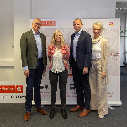 """Austausch mit dem Team des deutsch-niederländischen Bahnprojekts """"Wunderline""""."""
