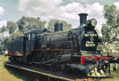 D3 639 on Turntable at Tooborac (oz_lightning) Tags: 35mmslrcamera 35mmfilmcamera australia canonpixmamg8150 filmscan hanimexcs50 people tooborac vic yashicaj3 yashinon50mmf2lens film history industrial railways rural scan slide steam tracks trains turntable victoria aus