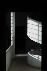 Light & Shadow (•Nicolas•) Tags: poissy france yvelines villa savoye lecorbusier architect architecture monument tourism visit color m9 nicolasthomas light shadow ombre lumière wall mur corridor escalier staircase