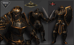 TSC-Battle Paladin (Black) (Topa Adamski) Tags: armor knight niramyth aesthetic medieval fantasy secondlife zbrush substancepainter plate platemail