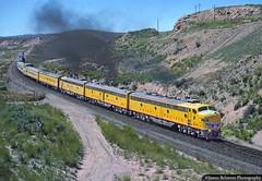 Approaching Wahsatch Summit (jamesbelmont) Tags: unionpacific passenger streamliner e9 ilacb wahsatch utah evanstonsubdivision train railroad railway