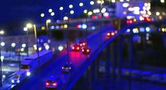 heavy christmas traffic (smokykater - 600k+ views) Tags: miniaturewonderland miniaturwunderland night traffic nacht lights lichter verkehr brücke bridge car truck lorry lastwagen auto xmas christmas weihnachten