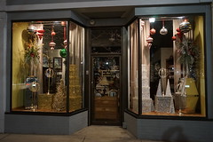 Window display (D. C. Wilson) Tags: lights decoration town city store glass window night christmas holiday building architecture wall brick