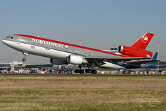McDonnell Douglas DC-10-30/ER – Northwest Airlines – N243NW – Amsterdam-Schiphol (AMS EHAM) – 2003 03 23 – Takeoff RWY 24 – 01 – Copyright © 2003 Ivan Coninx (Ivan Coninx Photography) Tags: ivanconinx ivanconinxphotography photography aviationphotography ams eham schiphol kaagbaan douglas mcdonnelldouglas mcdonnell dc10 mcdonnelldouglasdc10 dc1030 northwest northwestairlines n243nw aviation trijet trijets triholer takeoff