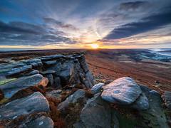 Christmas Eve sunrise (Stephen Elliott Photography) Tags: peakdistrict derbyshire hopevalley hathersage stanageedge high neb sunrise winter dawn olympus em1 714mm kase filters