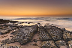 Beach Rock Ledge and Sunrise Seascape (Merrillie) Tags: daybreak clearskies nature australia sky centralcoast newsouthwales rocks toowoonbay nsw morning beach ocean sea earlymorning waterscape coastal landscape outdoors seascape sunrise coast water dawn