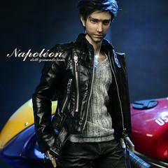 Dark Napoleon loves to ride motorcycle.❤️ (Doll.Granado) Tags: granado granadobjd granadodoll doll bjd napoleon