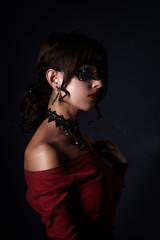 Zarina (Shumilinus) Tags: 2018 85mmf18 girls nikond300s people portrait studio women beautifulpeople beautywoman blueeyes brunette curly earrings lowkey mask mirror model necklace nikkorlenses pretty studioportrait